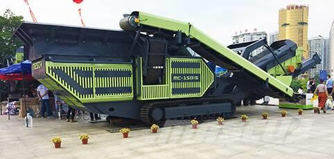 White Lai Crawler Mobile Impact Crusher Crushing Plant