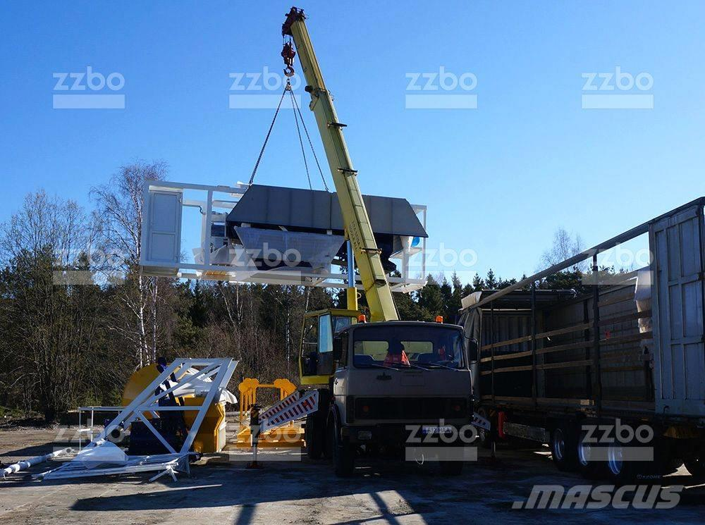Used zzbo mobile batching plant compact РБУ
