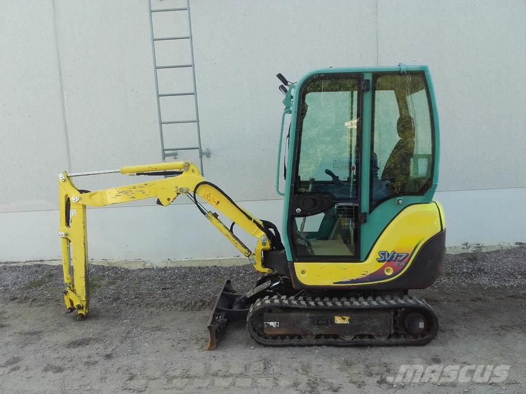 used yanmar sv 17 mini excavators. Black Bedroom Furniture Sets. Home Design Ideas