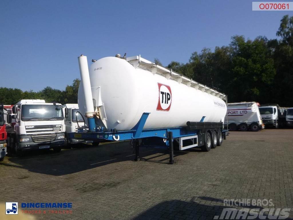 Feldbinder Powder tank alu 63 m3 (tipping)