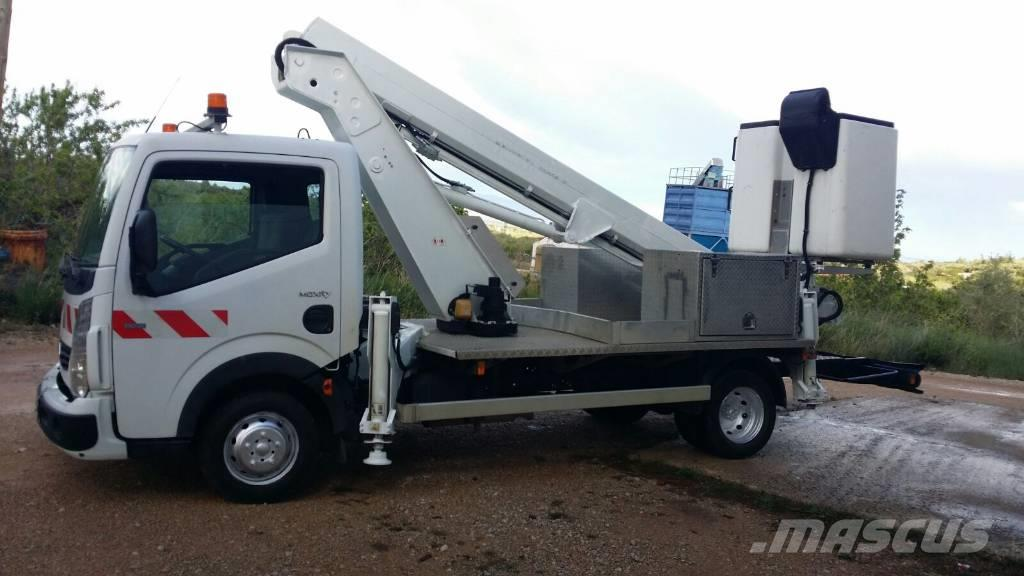used renault master camion cesta 16 5mts con patas truck mounted aerial platforms year 2007. Black Bedroom Furniture Sets. Home Design Ideas