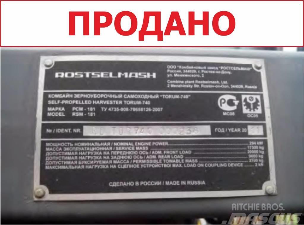 Rostselmash TORUM 740, 2011, Skördetröskor