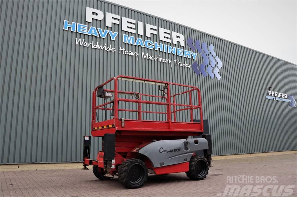 Haulotte COMPACT 10DX Diesel, 4x4 Drive, 10.2m Working Heig