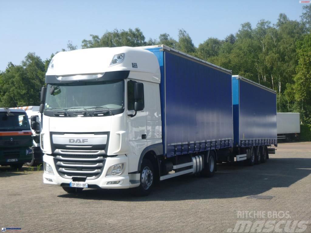DAF XF 460 4x2 Euro 6 volume curtain sider + trailer
