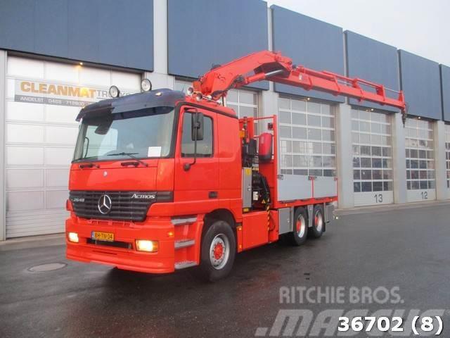 Mercedes-Benz ACTROS 2648 V8 6x4 Hiab 33 ton/meter Kran