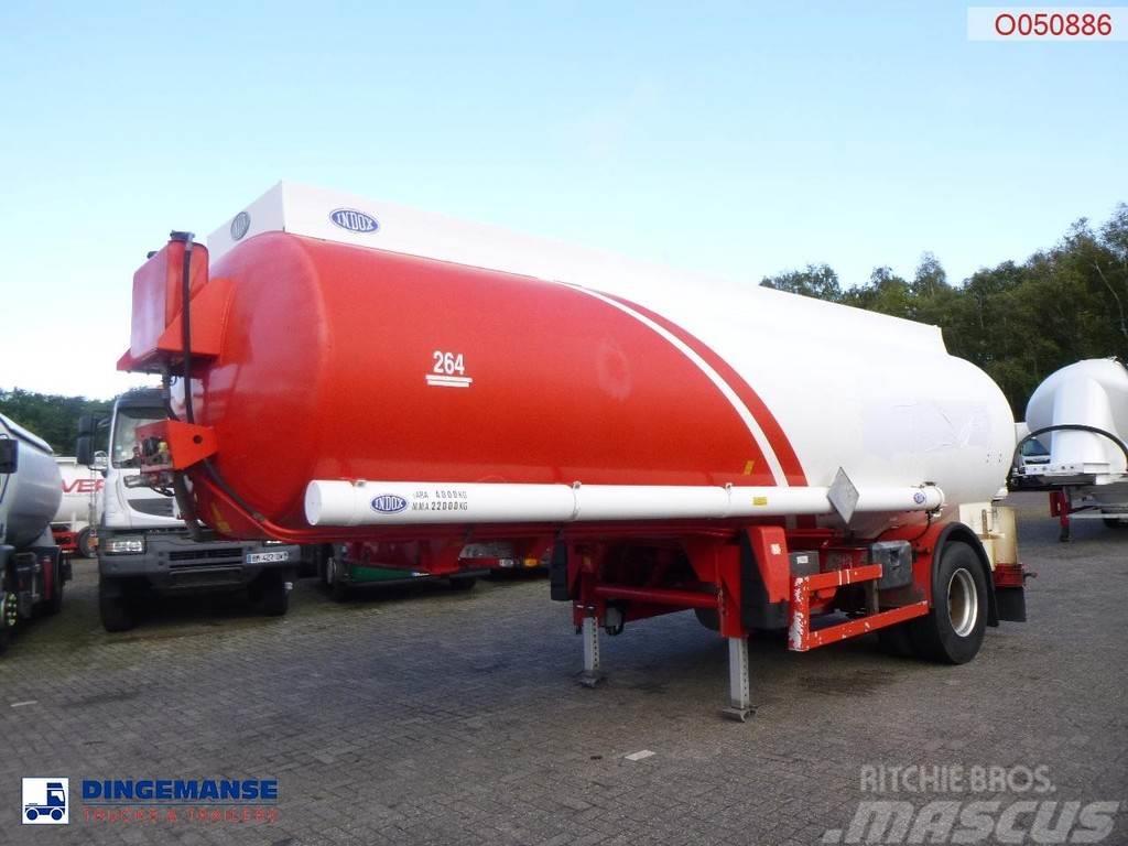 Indox Fuel tank alu 23.8 m3 / 4 comp + pump/counter