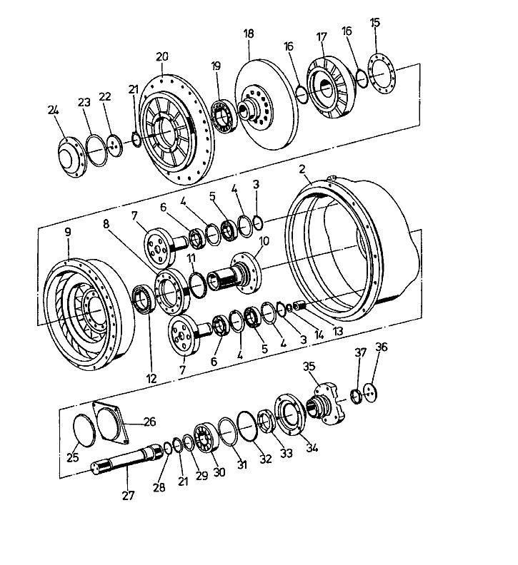 Used Dressta Zmiennik Momentu Td20g Torque Converter Transmission