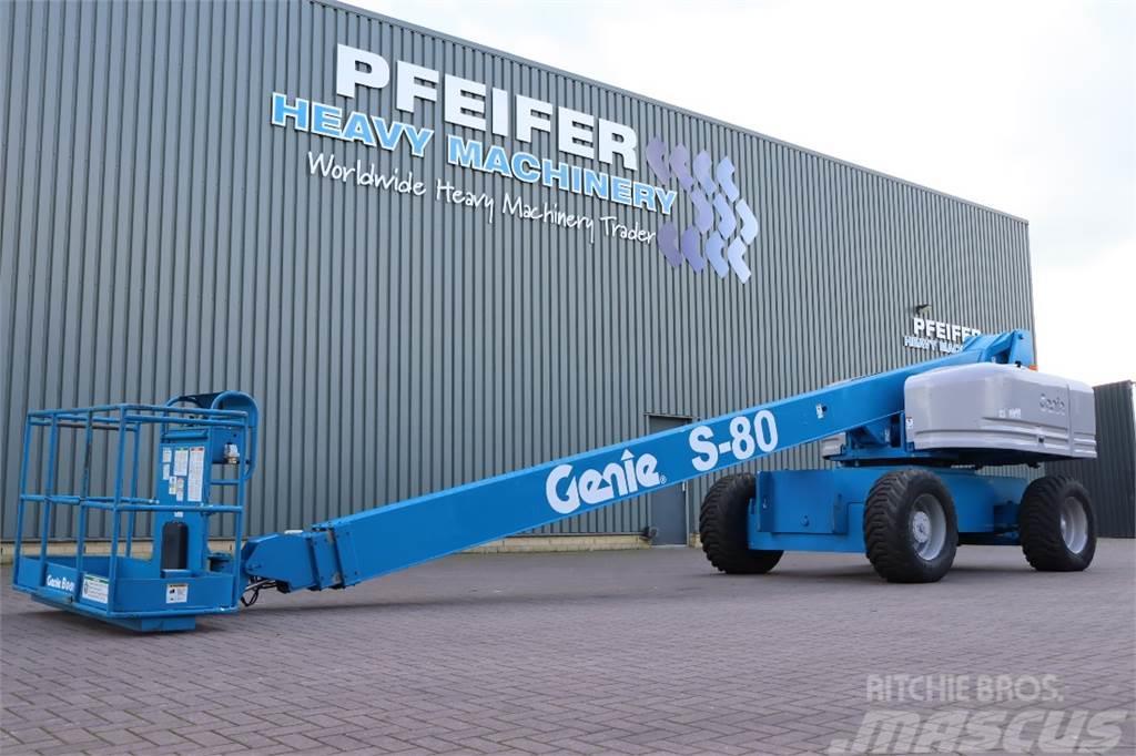 Genie S80 Diesel, 26.2m Working Height, 21.8m Reach, Jib