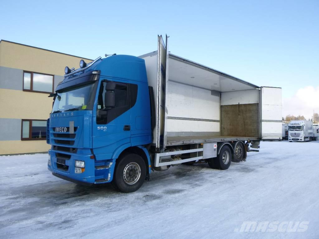 used iveco stralis 500 6x2 euro5 side opening retarder box trucks year 2011 price 30 177 for. Black Bedroom Furniture Sets. Home Design Ideas
