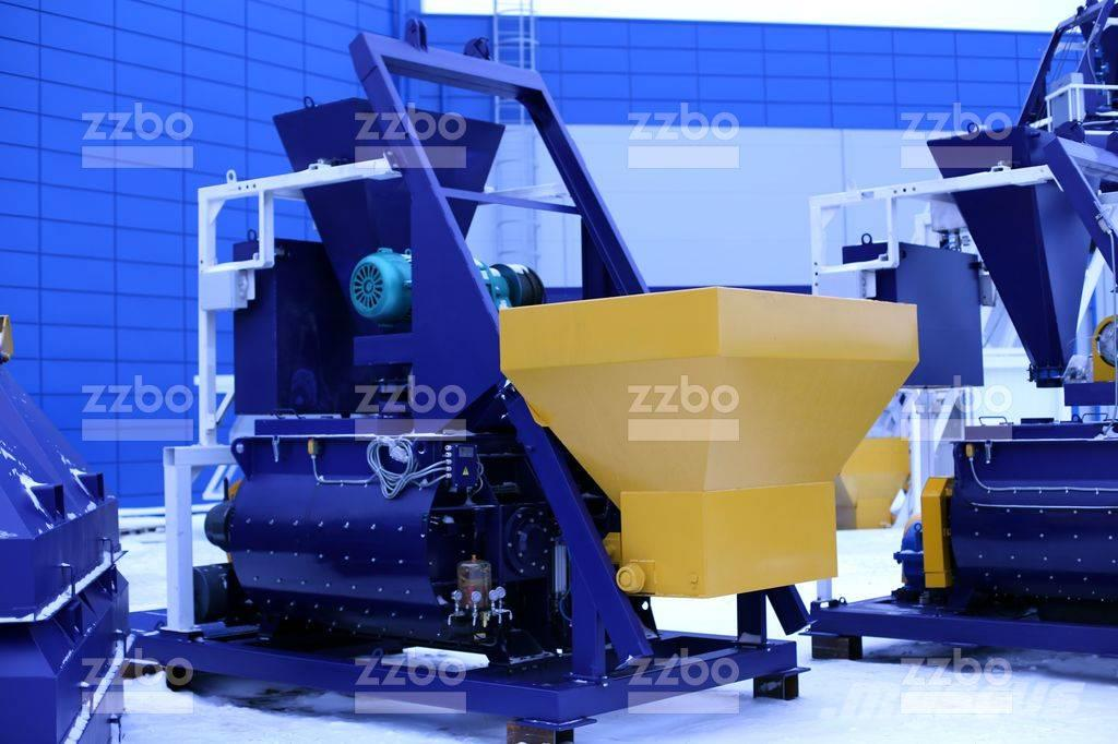 Used Zzbo Twin Shaft Concrete Mixer With Skip Bp 2g 1500s