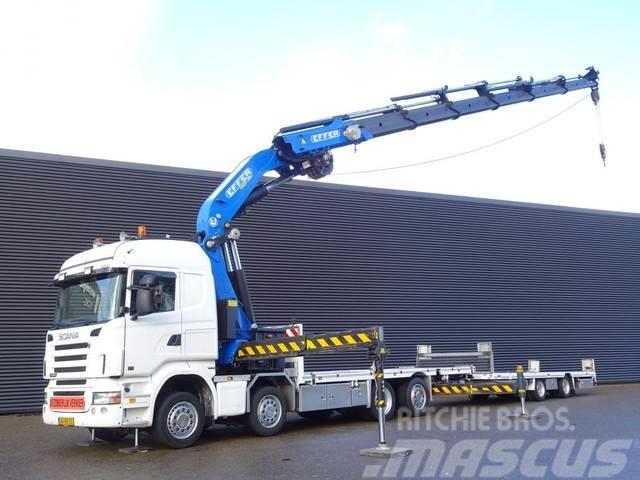 Scania R440 E5 / EFFER 85 T/M CRANE + WINCH + TRAILER