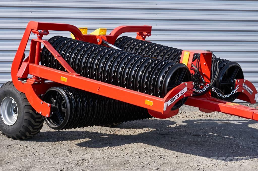 Agro-Factory Grom Tytan, roller/ rouleau cambridge 600 mm, 6,3m