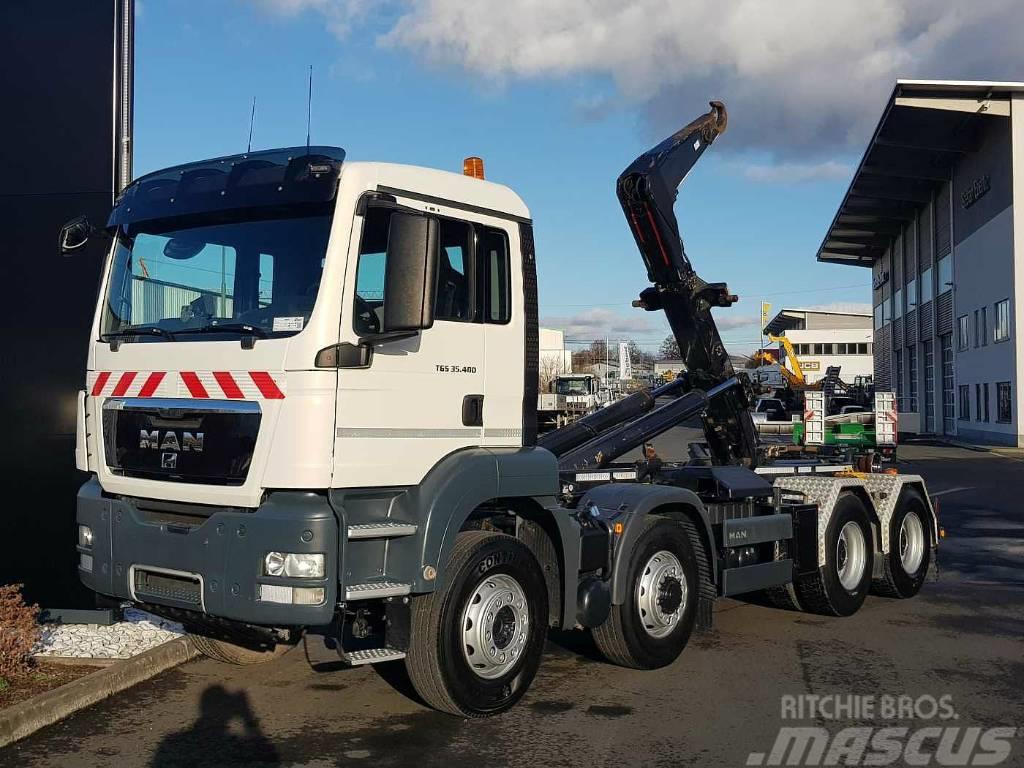 MAN TGS35.400 8x6 Meiller Hook truck