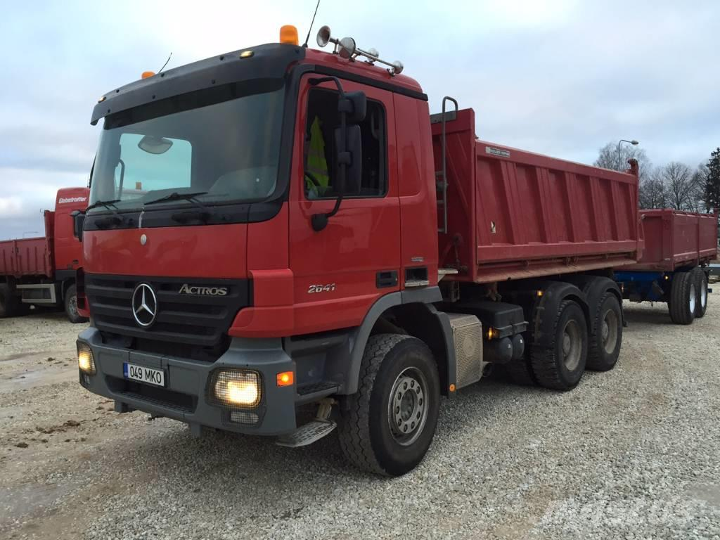 Used mercedes benz actros 2641k tipping trailer dump for Mercedes benz astros