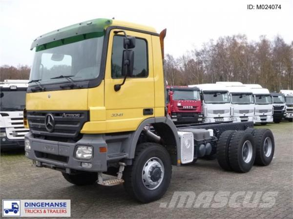 mercedes benz actros 3341 6x6 chassis occasion prix 32 500 ann e d 39 immatriculation 2005. Black Bedroom Furniture Sets. Home Design Ideas