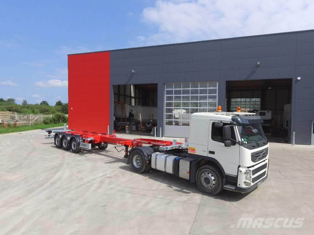 Fliegl Semi-remorque VARIO Porte conteneur 3 essieux
