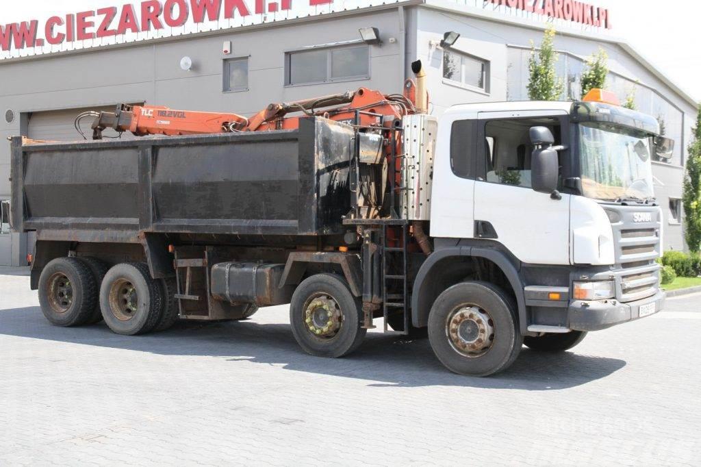 Scania P340 8x4 TIPPER CRANE RIGHT SIDE DRIVE