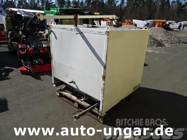 Multicar Wassertank Edelstahl 1500 Liter Schlauchabroller