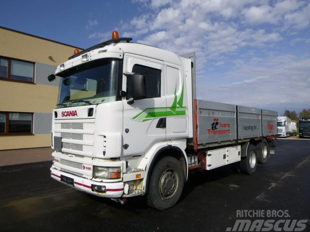 Scania R164 48 6x2+HYDRAULICS+CRANE READY