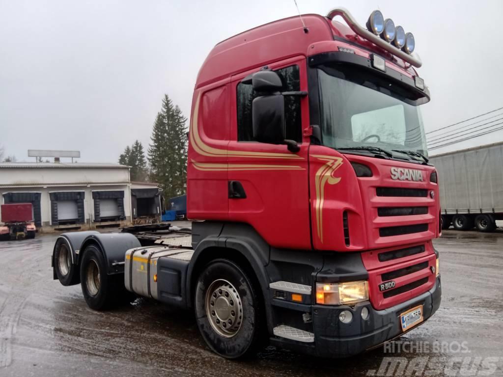 Scania R500 6x2 takateliveturi, hydrauliikka, paperikieko