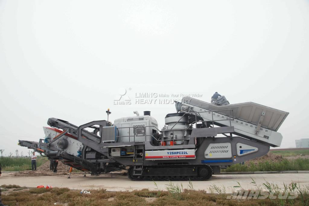 Liming Y3S2160 Mobile hydraulic Cone Crusher with Screen
