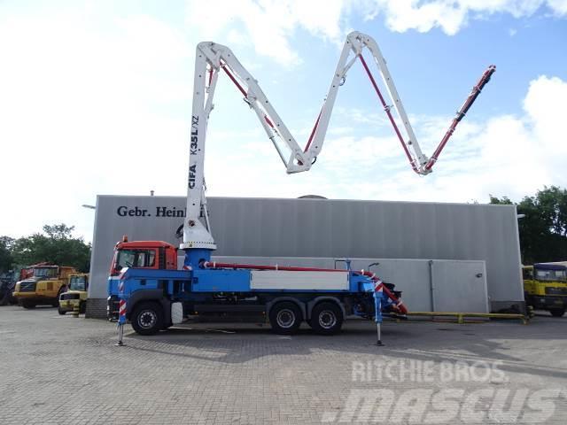 MAN TGA 33.440 6x4 Cifa K35L XZ 35 Meter