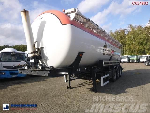 Feldbinder Powder tank alu 45 m3 (tipping)