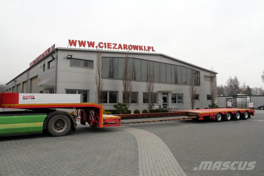 Es-ge Low loader semi-trailer 4-axis, extendable