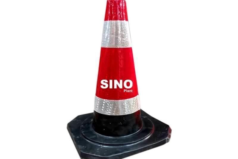 Sino Plant Traffic Cone Rubber 500mm Black Base