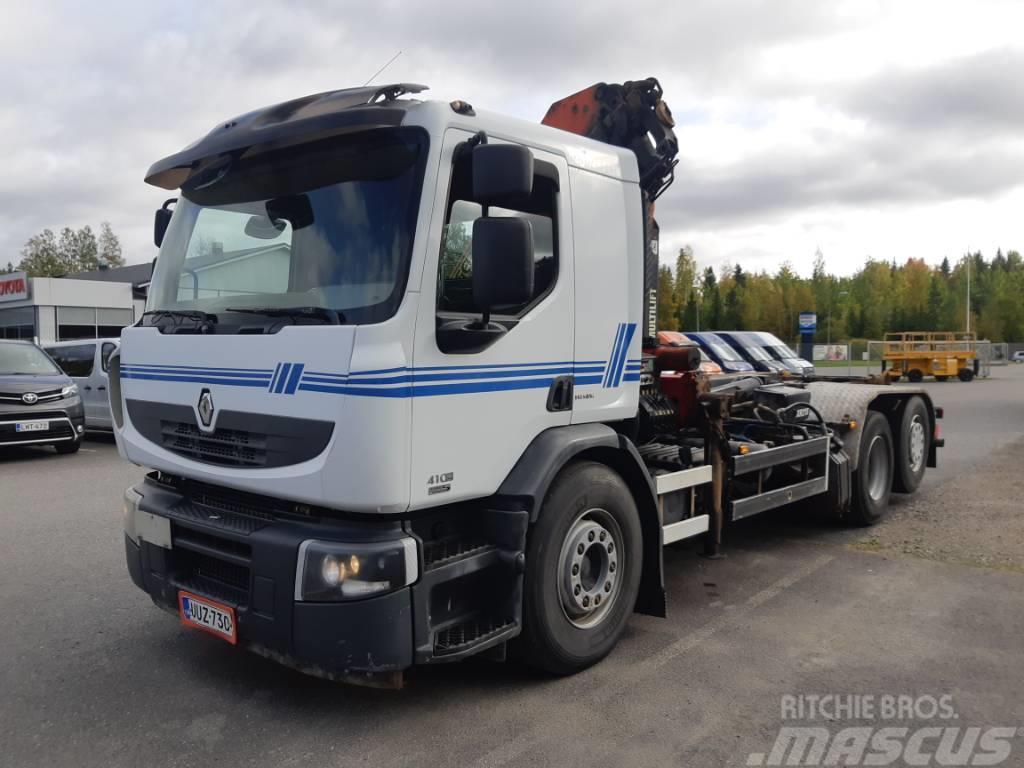 Renault Premium 410 6x2 nosturi + koukku
