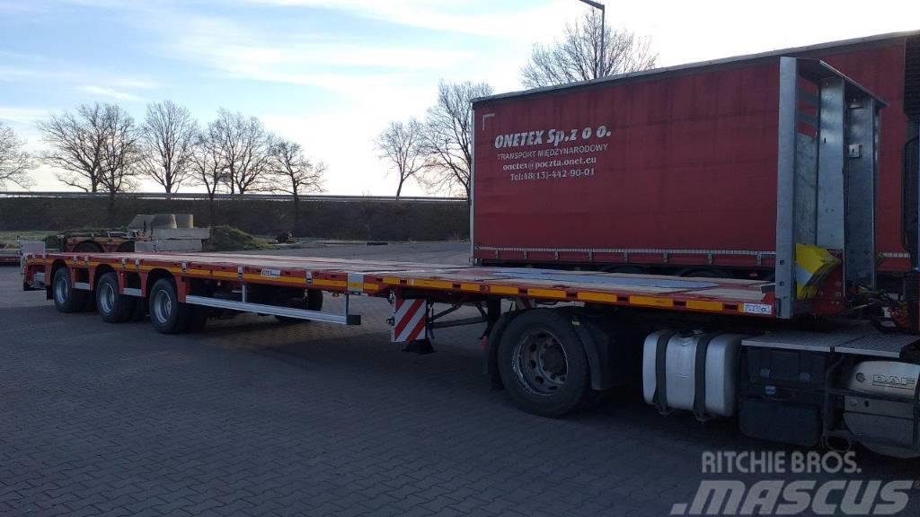 MAX Trailer Naczepa platforma telemega 3 osie hydraulicznie sk