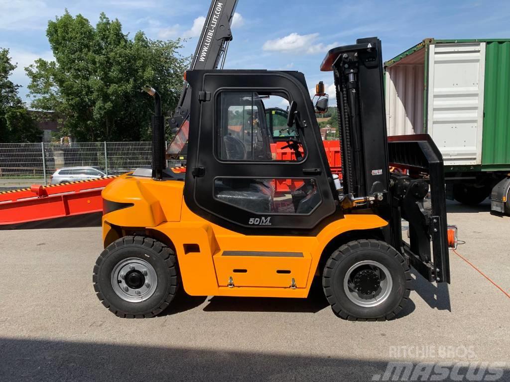 Maximal FD50T-MW, 5 ton diesel fork lift, Triplex 4,8m