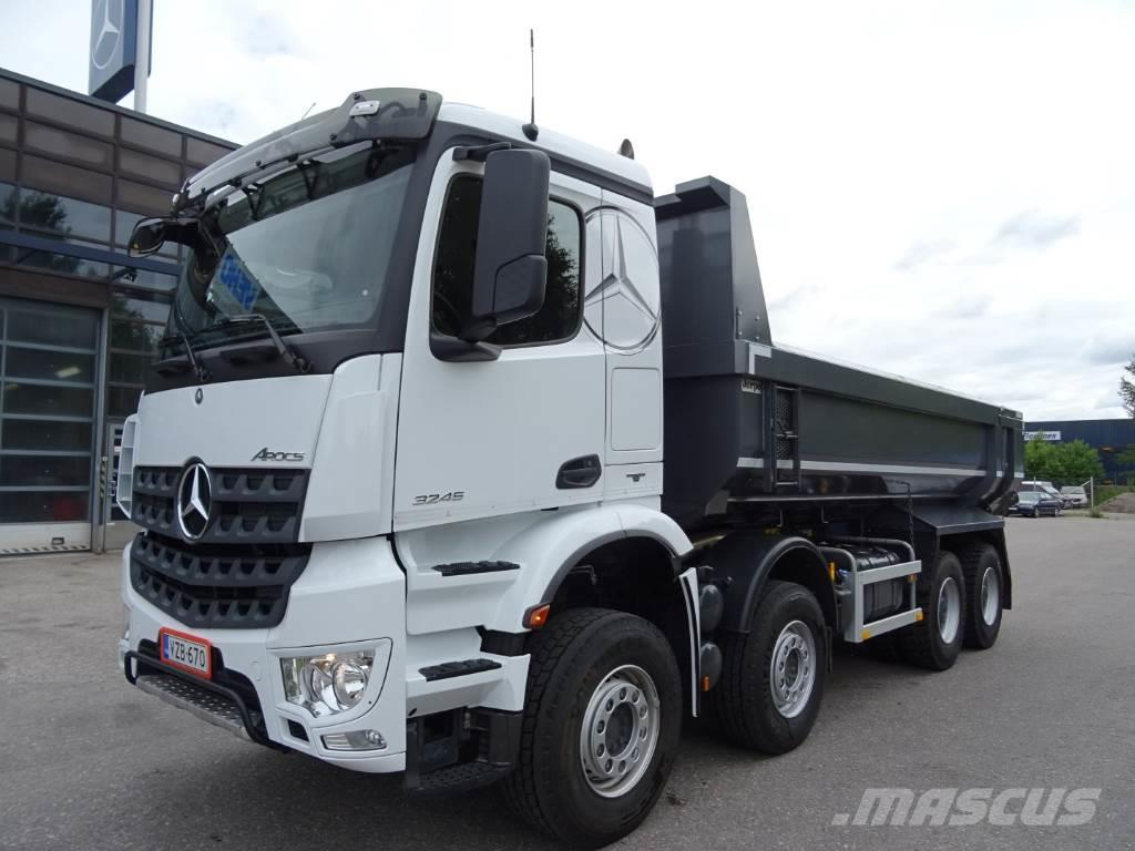 Used mercedes benz arocs 3245 k 8x4 4 dump trucks year for Used mercedes benz tipper trucks for sale in germany