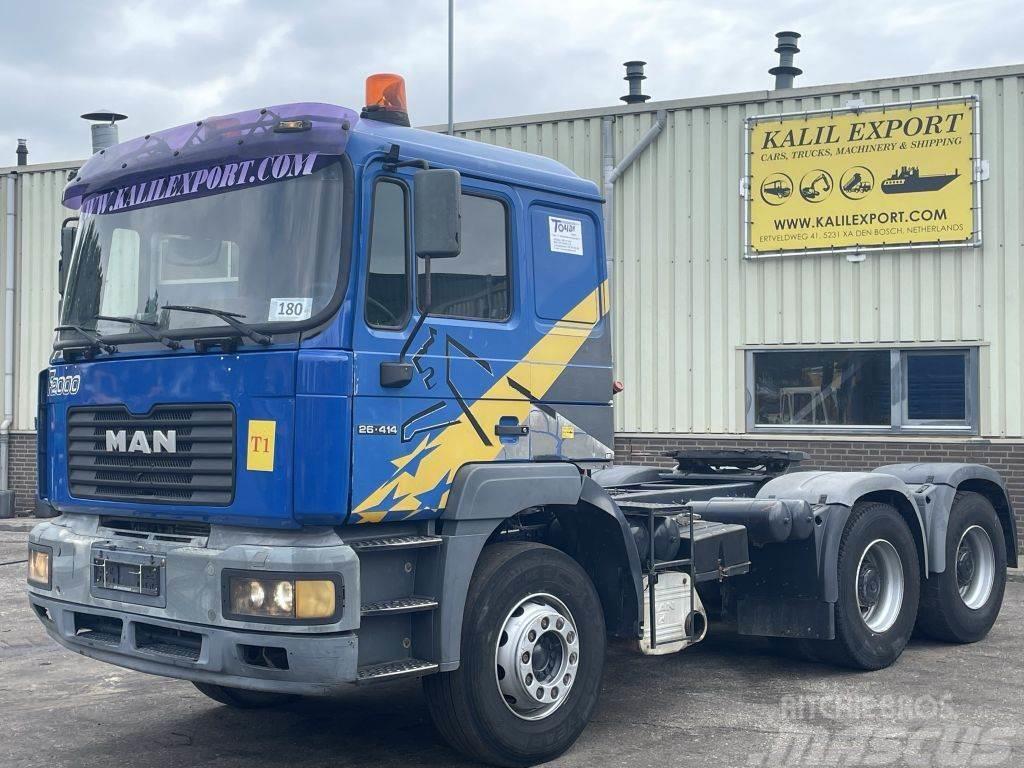 MAN 26.414 Heavy duty tractor 6x4 ZF Hydraulic Good Co