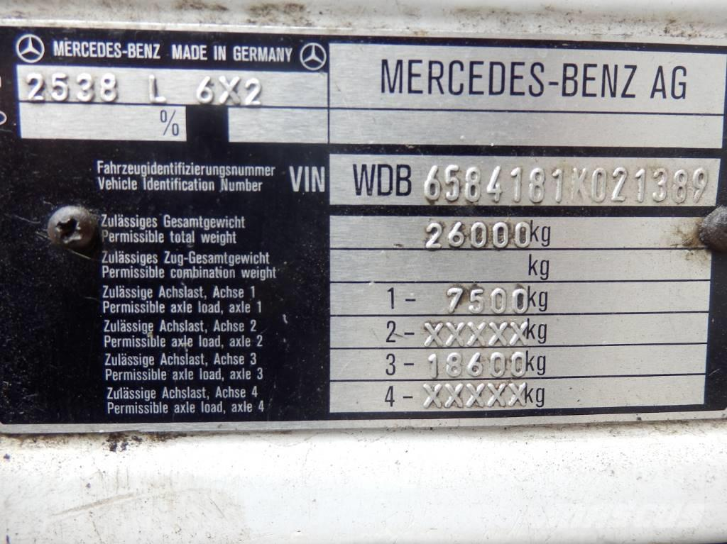 Mercedes-Benz 2538 6x2 Engine V8 13.t Axles Crane Atlas, 1994, Kranbilar