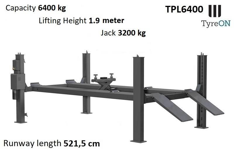 TyreOn TPL6400 | 4 post lift | 6.4T