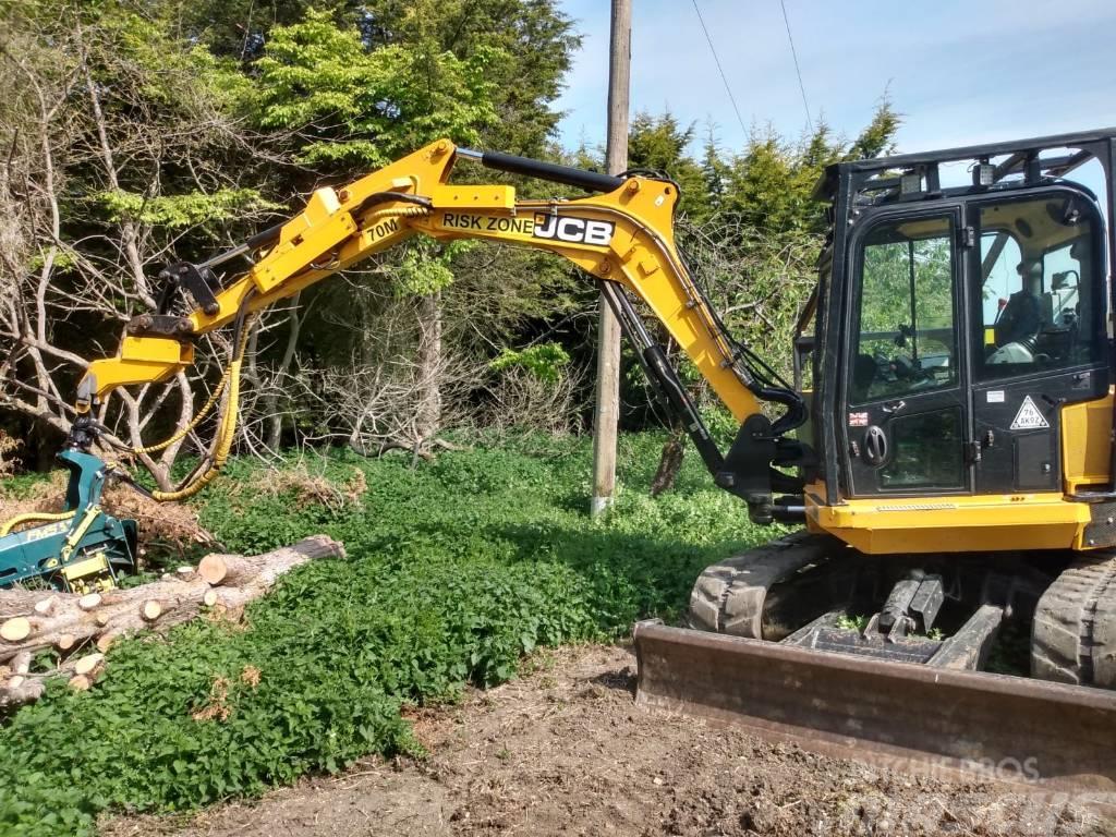 JCB 85Z Excavator c/w FMS 575 Stroke Head