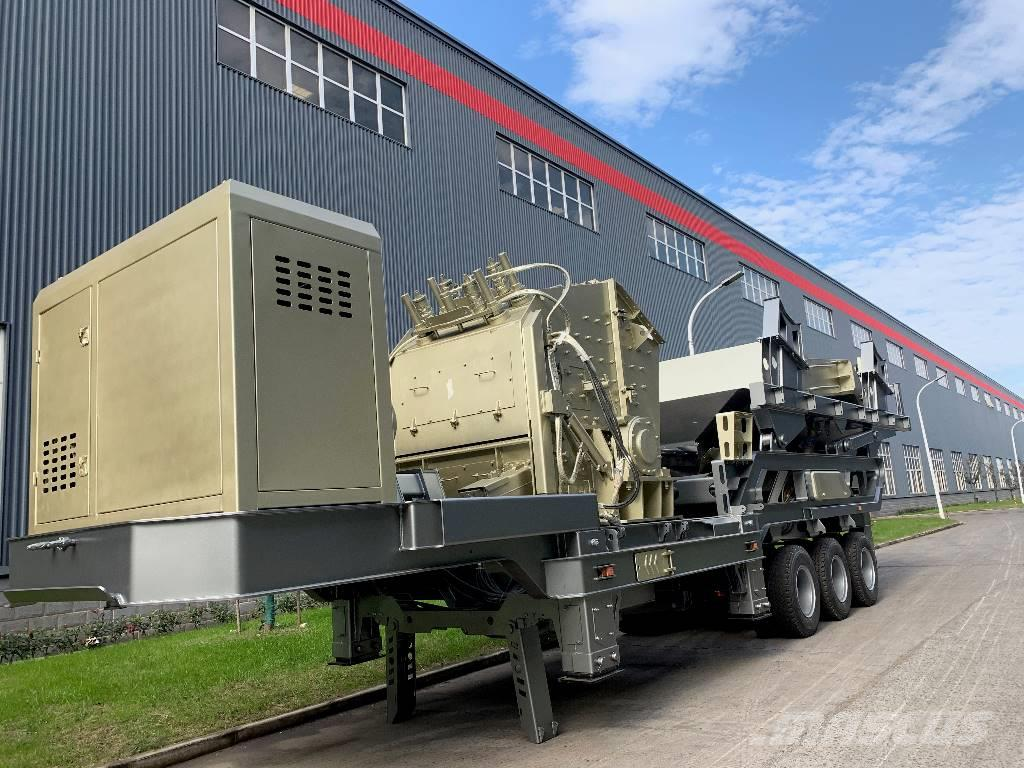 Kinglink KL38096F1214 Mobile Impact Crusher Crushing Plant