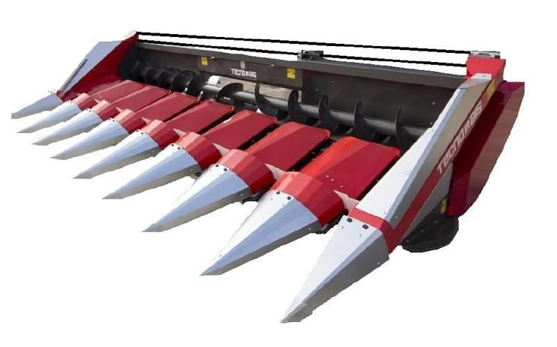 [Other] Tecnomais NEW 8 row fixed frame corn header, Stalk