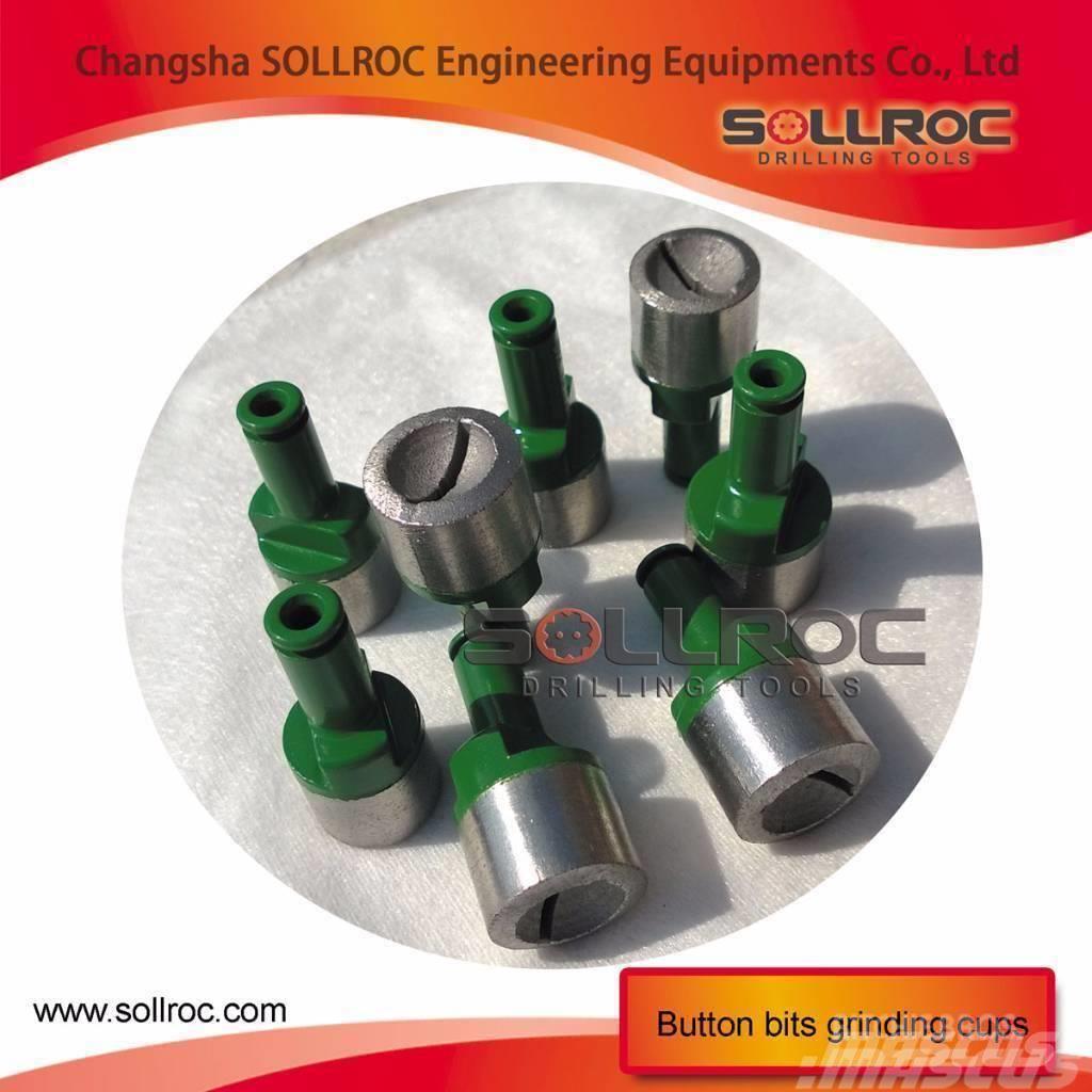 Sollroc button bits grinder machine and grinding cup, 2017, Tillbehör och reservdelar till borrutrustning