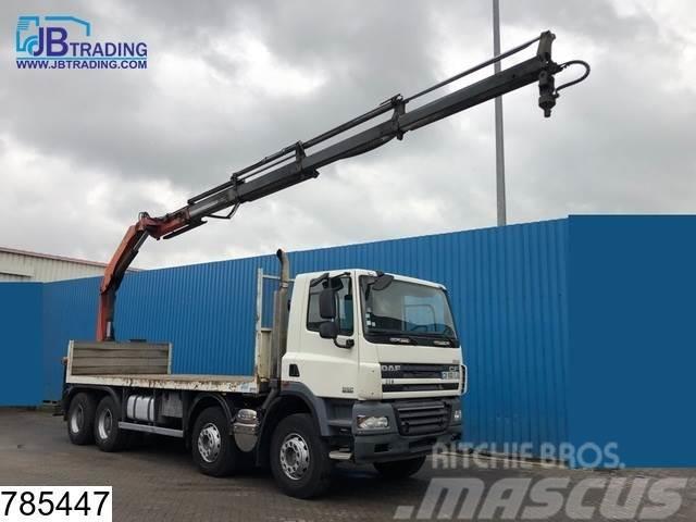 DAF 85 CF 360 8x4, Manual, Palfinger crane, Steel susp