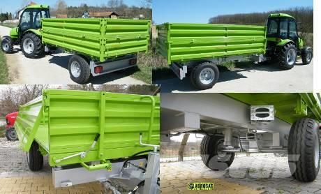 Agro PV egytengelyes Tuber PV 4000 pótkocsi Agrosat