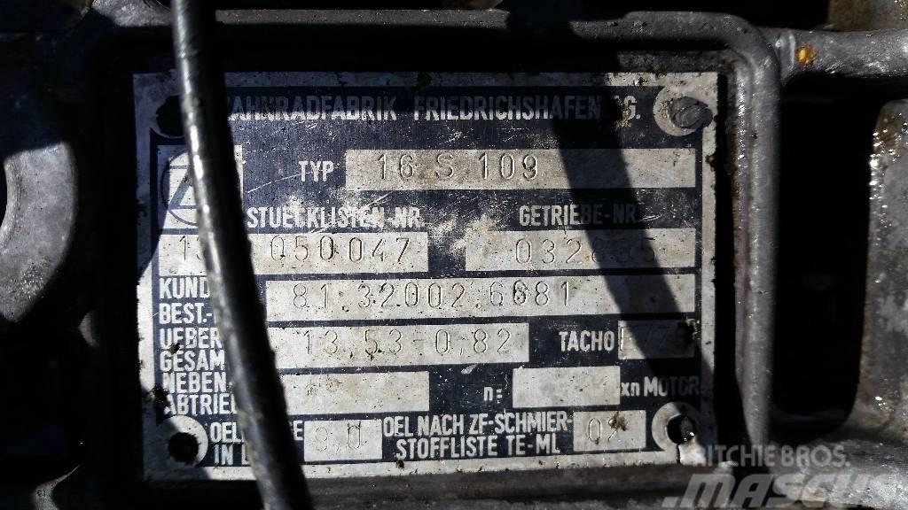 ZF 16S109, Växellådor