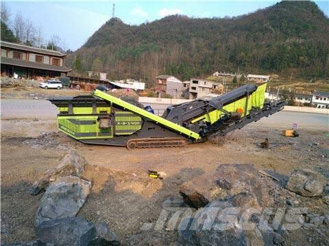 White Lai Cone Crusher Mobile Stone Crushing Plant