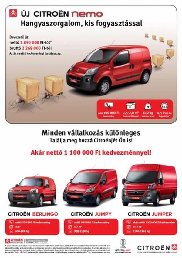 Citroën haszongépjárművek teljes választéka