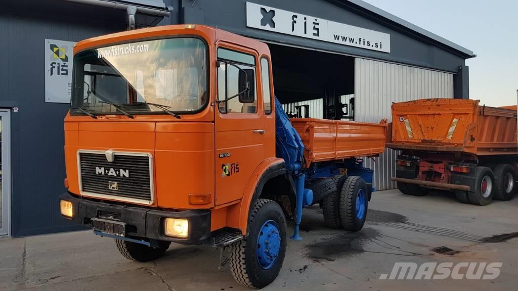MAN 16.192 FAK 4X4 meiller tipper + crane