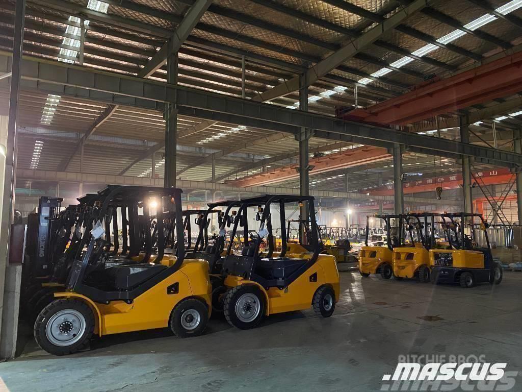 UN Forklift 3.0Ton Diesel Forklift with 3000mm mast