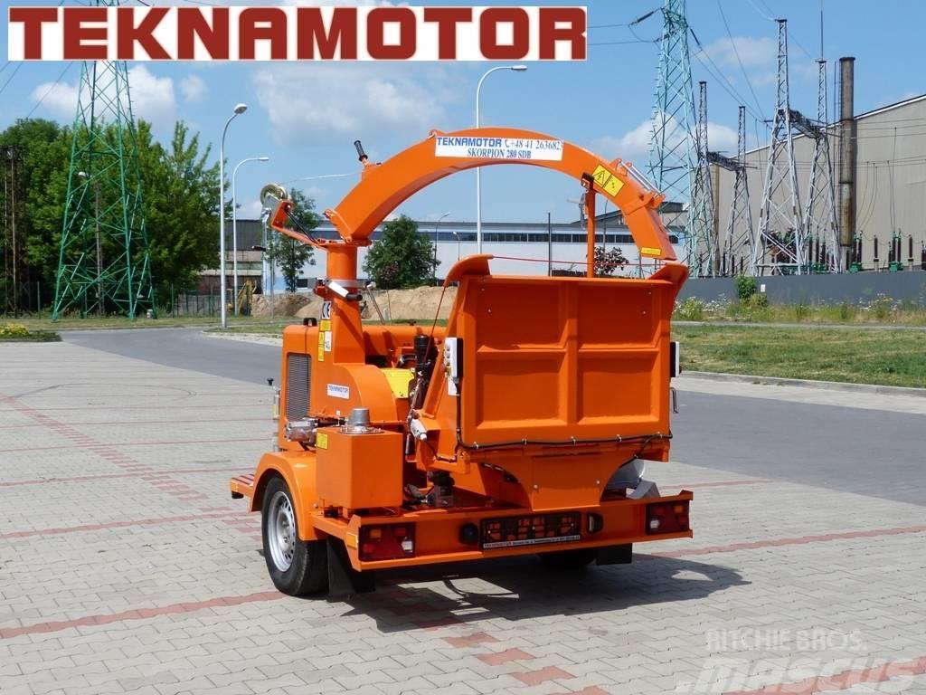 Teknamotor Skorpion 280 SDB - Holzhacker Häcksler Chipper
