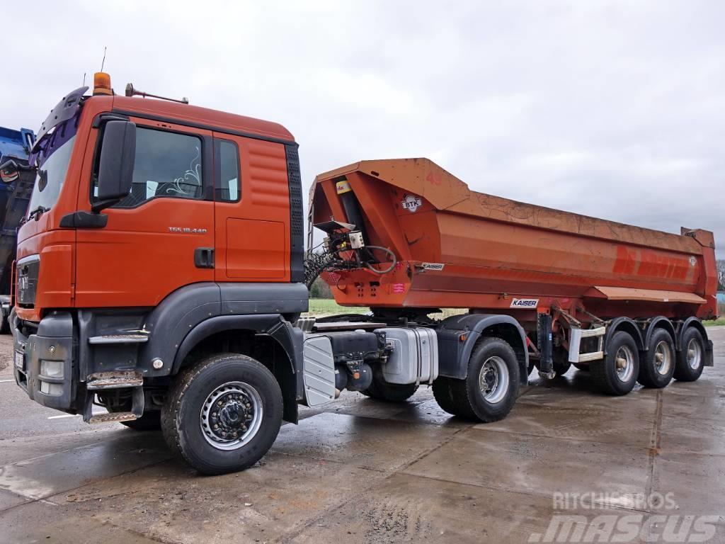 MAN TGS 18.440 + Tipper trailer 6 Units
