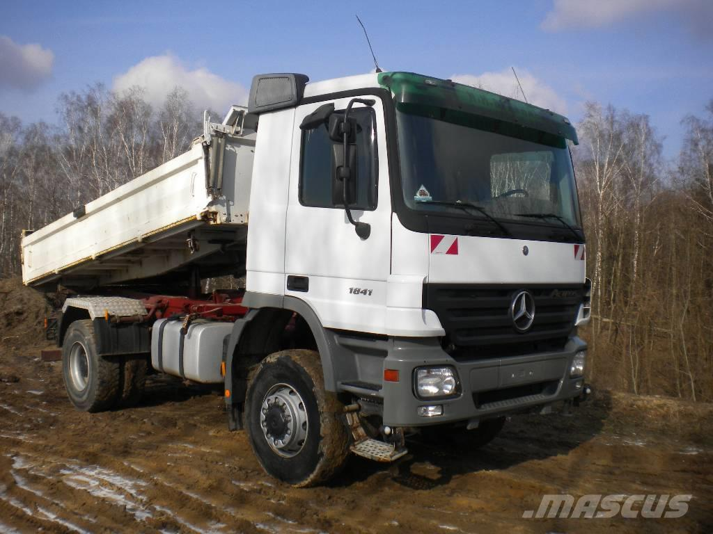 used mercedes benz actros 1841 mp2 4x4 kipper lkw dump. Black Bedroom Furniture Sets. Home Design Ideas